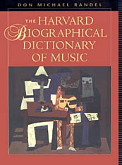 Cover: The Harvard Biographical Dictionary of Music in HARDCOVER