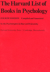 Cover: The Harvard List of Books in Psychology in PAPERBACK