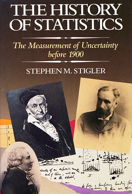 Cover: The History of Statistics: The Measurement of Uncertainty before 1900, from Harvard University Press