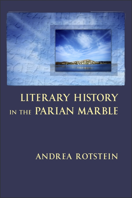 Cover: Literary History in the Parian Marble, from Harvard University Press