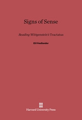 Cover: Signs of Sense: Reading Wittgenstein's <i>Tractatus</i>