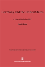 Cover: Germany and the United States: A
