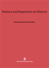 Cover: Pattern and Repertoire in History
