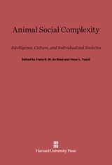 Cover: Animal Social Complexity: Intelligence, Culture, and Individualized Societies