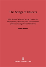 Cover: The Songs of Insects: With Related Material on the Production, Propagation, Detection, and Measurement of Sonic and Supersonic Vibrations