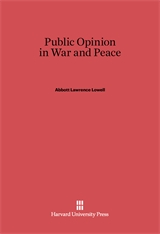 Cover: Public Opinion in War and Peace