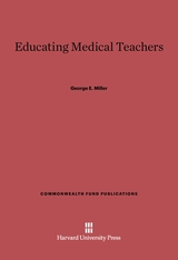 Cover: Educating Medical Teachers