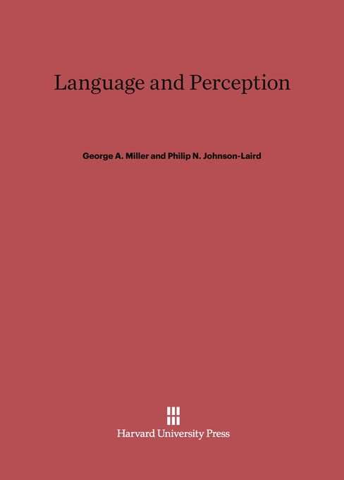 Cover: Language and Perception, from Harvard University Press