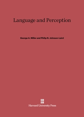 Cover: Language and Perception