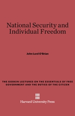 Cover: National Security and Individual Freedom
