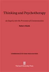 Cover: Thinking and Psychotherapy: An Inquiry into the Processes of Communication