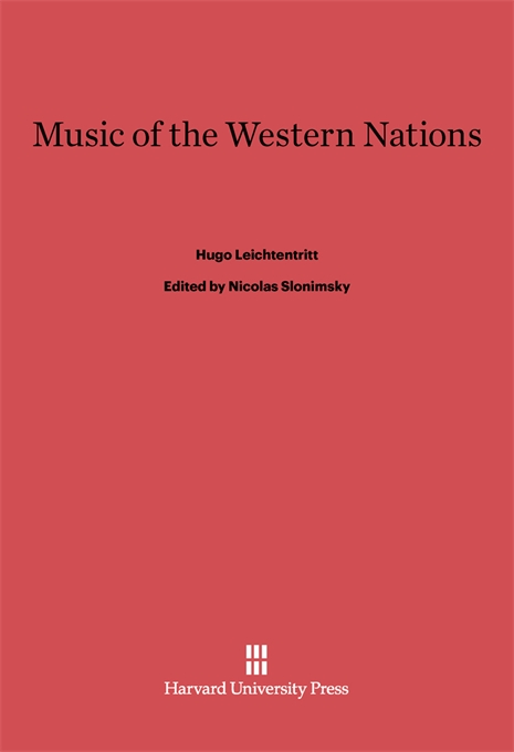Cover: Music of the Western Nations, from Harvard University Press