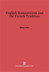 Cover: English Romanticism and the French Tradition