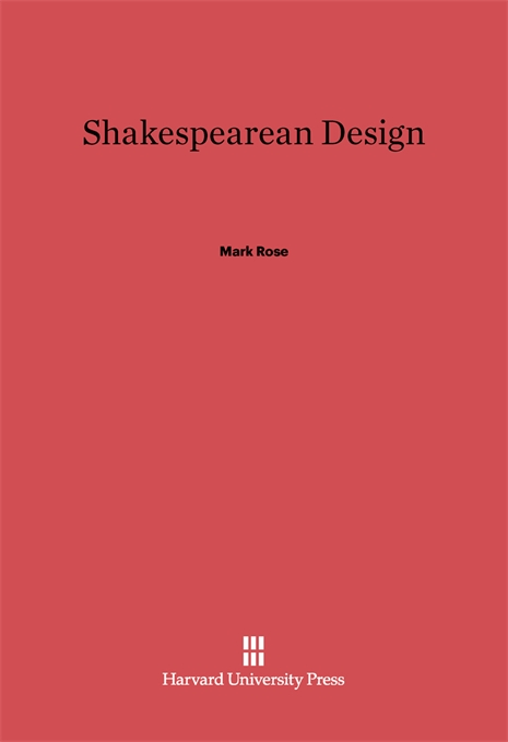 Cover: Shakespearean Design, from Harvard University Press