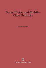 Cover: Daniel Defoe and Middle-Class Gentility