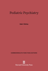 Cover: Pediatric Psychiatry