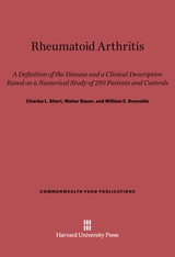 Cover: Rheumatoid Arthritis: A Definition of the Disease and a Clinical Description Based on a Numerical Study of 293 Patients and Controls