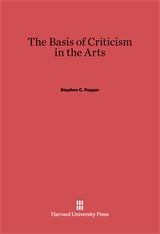 Cover: The Basis of Criticism in the Arts