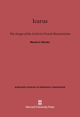 Cover: Icarus: The Image of the Artist in French Romanticism