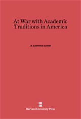 Cover: At War with Academic Traditions in America