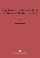Cover: Supplement to Bibliography of the Works of Rudyard Kipling (1927)
