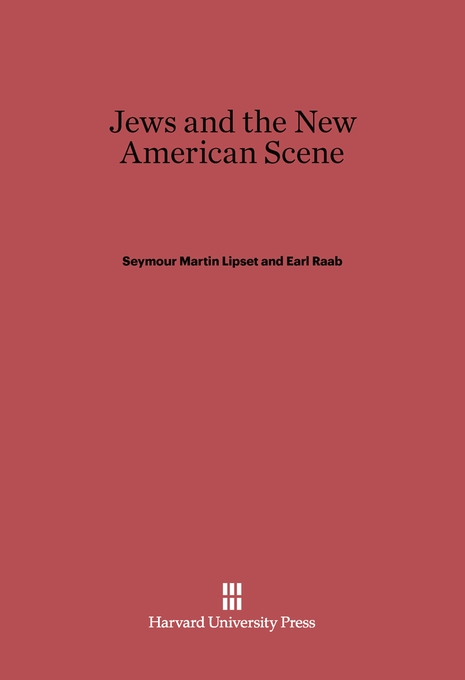 Cover: Jews and the New American Scene, from Harvard University Press