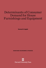 Cover: Determinants of Consumer Demand for House Furnishings and Equipment