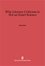 Cover: Why Literary Criticism Is Not an Exact Science