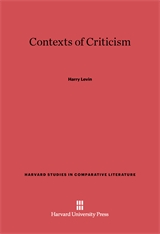 Cover: Contexts of Criticism in E-DITION