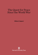 Cover: The Quest for Peace Since the World War in E-DITION