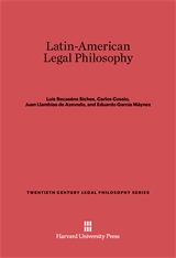 Cover: Latin-American Legal Philosophy