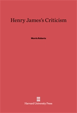 Cover: Henry James's Criticism