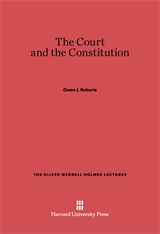 Cover: The Court and the Constitution