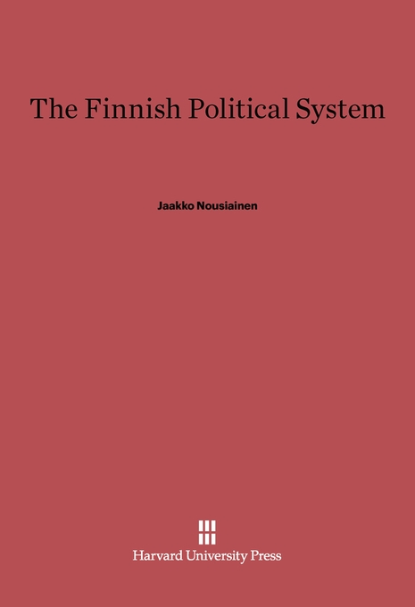Cover: The Finnish Political System, from Harvard University Press