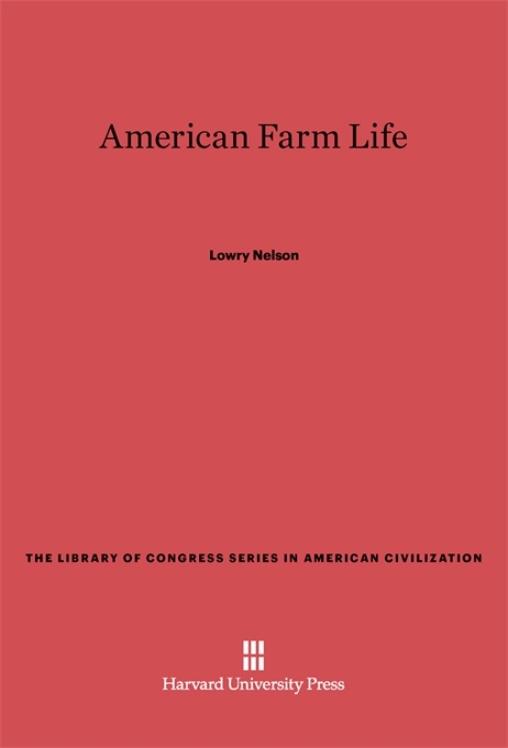 Cover: American Farm Life, from Harvard University Press