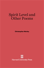 Cover: Spirit Level and Other Poems