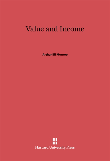 Cover: Value and Income, from Harvard University Press
