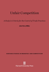 Cover: Unfair Competition in E-DITION