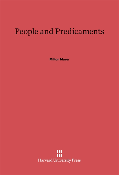 Cover: People and Predicaments, from Harvard University Press