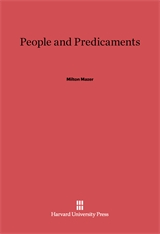 Cover: People and Predicaments