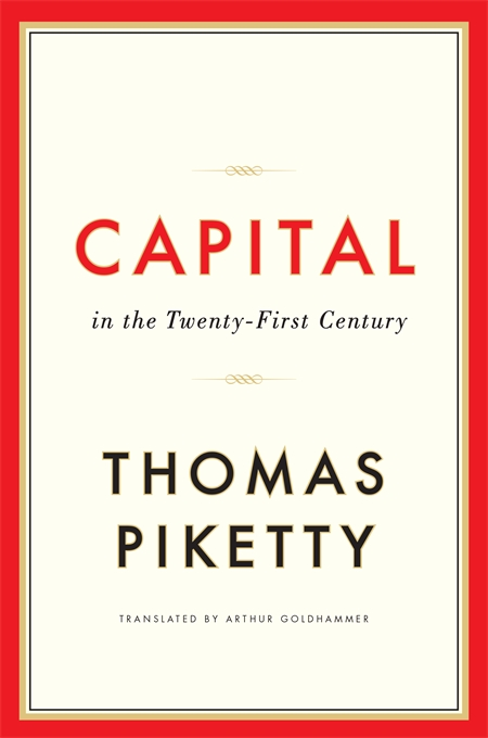 Cover: Capital in the Twenty-First Century, from Harvard University Press