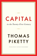 Cover: Capital in the Twenty-First Century in HARDCOVER