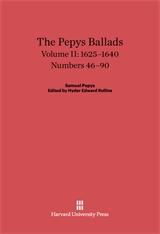 Cover: The Pepys Ballads, Volume 2: 1625-1640: Numbers 46-90