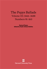 Cover: The Pepys Ballads, Volume 3: 1666-1688: Numbers 91-163