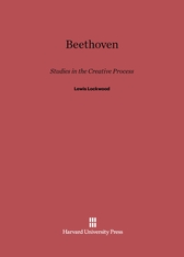 Cover: Beethoven: Studies in the Creative Processes