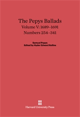 Cover: The Pepys Ballads, Volume 5: 1689-1691: Numbers 254-341