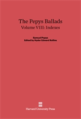 Cover: The Pepys Ballads, Volume 8: Indexes