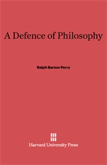 Cover: A Defence of Philosophy