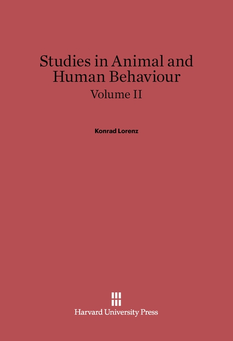 Cover: Studies in Animal and Human Behaviour, Volume II, from Harvard University Press