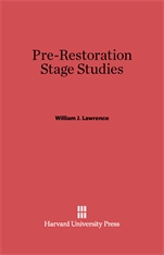 Cover: Pre-Restoration Stage Studies